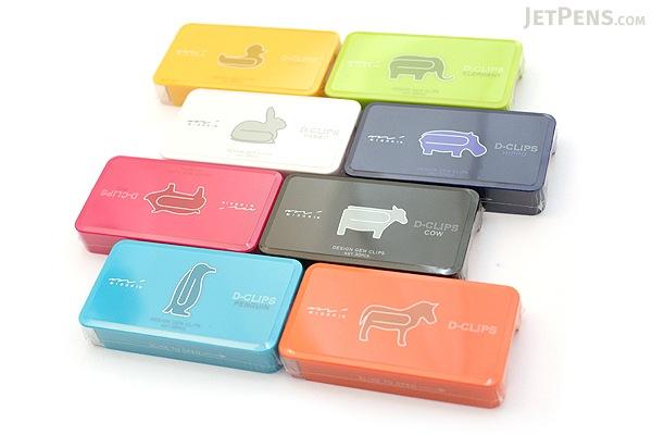 Midori D-Clips Paper Clips - Original Series - Hippo - Box of 30 - MIDORI 43153-006