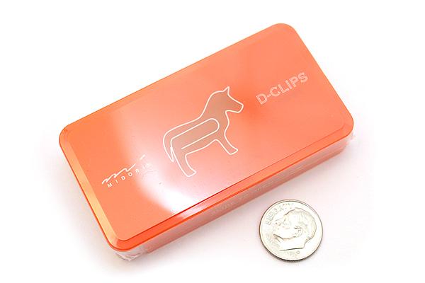 Midori D-Clips Paper Clips - Original Series - Horse - Box of 30 - MIDORI 43154-006