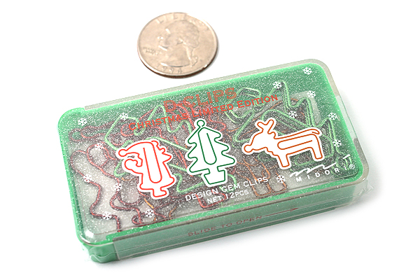 Midori D-Clips Paper Clips - Limited Edition - Christmas - Box of 15 - MIDORI 230887