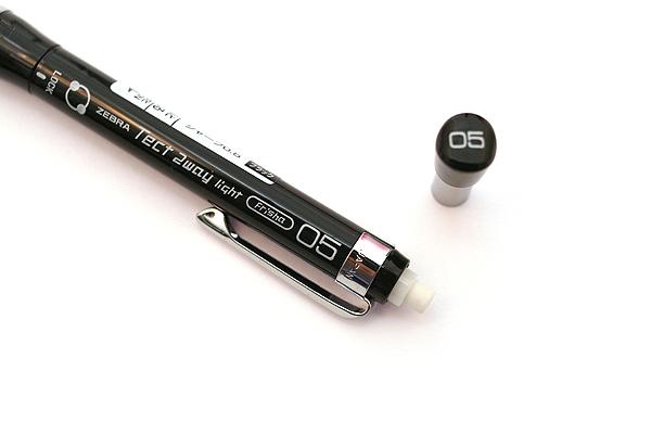 Zebra Tect 2way Light Drafting Pencil - 0.5 mm - Pure Black Body - ZEBRA MA42-PBK