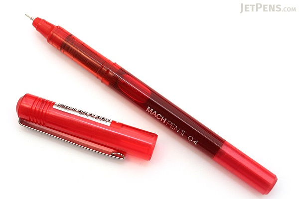 Morning Glory Mach II Liquid Ink Pen - 0.4 mm - Red - MORNING GLORY MACH RD
