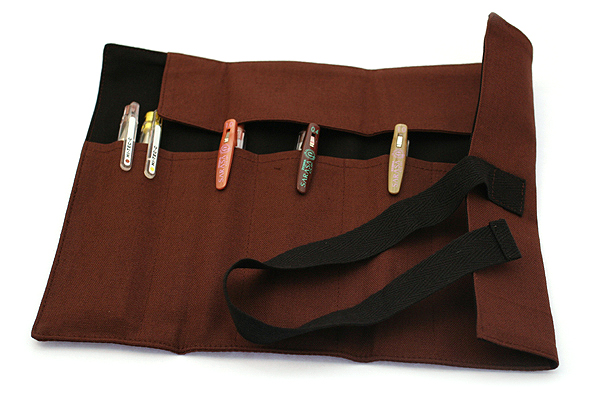 122KCal Roll Pencil Case - Espresso Brown - 122KCAL ROLL ESP