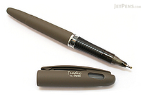 Pentel Tradio EnerGel Combo Gel Pen - Nature Matte Body - 0.7 mm - Gray Body - Black Ink - PENTEL TRL92N-A