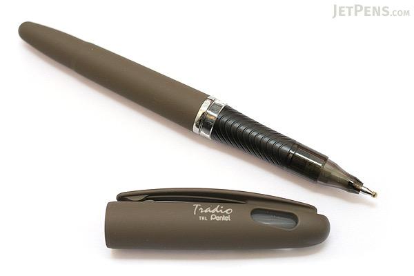 Pentel Tradio EnerGel Combo Gel Pen - Nature Matte Body - 0.7 mm - Gray Body - Black Ink - PENTEL TRL92N-A