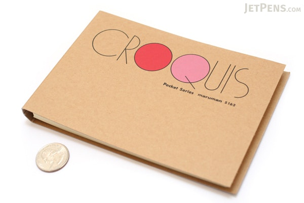 """Maruman Pocket Croquis Sketchbook - 4.2"""" X 6"""" - 60 g / sq m - MARUMAN S162"""