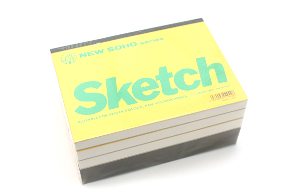 "Maruman New Soho Series Sketchbook - B6 (4.9"" X 6.9"") - 126.5g / sq m Paper - 70 Sheets - Bundle of 5 - MARUMAN SOHO301-04 BUNDLE"