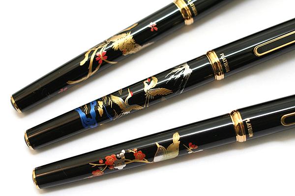 Platinum Modern Maki-e Gel Roller Pen - 0.5 mm - Crane - PLATINUM GBTL-4000M 18