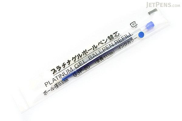 Platinum GSP-80N Gel Pen Refill - 0.5 mm - Blue - PLATINUMGSP-80N 3