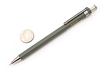 Ohto Pieni Wooden Body Mini Needle-Point Ballpoint Pen - 0.5 mm - Gray Body - OHTO NBP-350P GRAY
