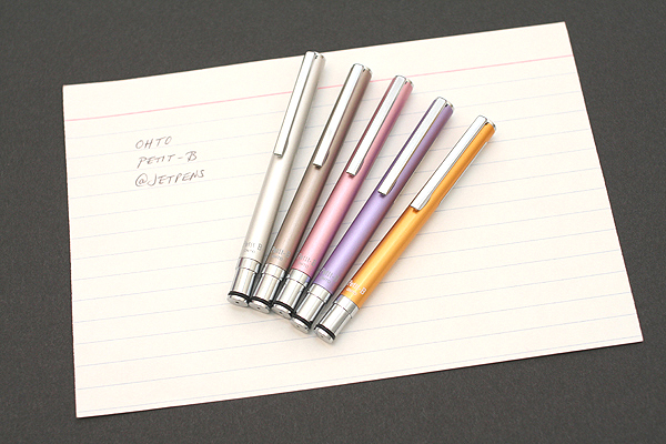 Ohto Petit-B Needle-Point Ballpoint Pen - 0.5 mm - Dark Gray Body - OHTO NBP-5P5 DARK GRAY