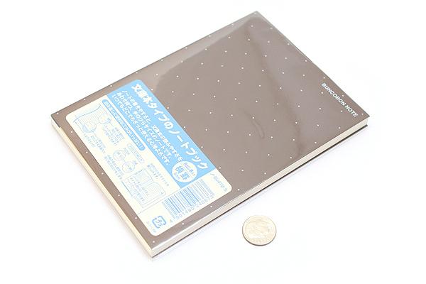 "Kokuyo Buncobon Dot Cover Notebook - A6 (4.1"" X 5.8"") - Normal Rule - 23 Lines - 70 Sheets - Sepia - KOKUYO NO-BU47B-S"