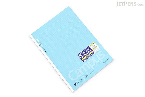 Kokuyo Campus Adhesive-Bound Notebook - A4 - Dotted 6 mm Rule - 40 Sheets - Pack of 5 - KOKUYO NO-201BT BUNDLE