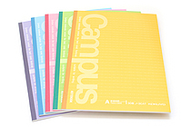 Kokuyo Campus Notebook - Semi B5 - Dotted 7 mm Rule - Pack of 5 Cover Colors - KOKUYO NO-3CATX5
