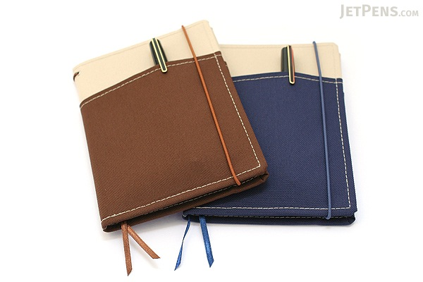 "Kokuyo Systemic Refillable Notebook Cover - A6 (4.1"" X 5.8"") - Khaki / Brown - Pack of 5 - KOKUYO NO-659B-3 BUNDLE"