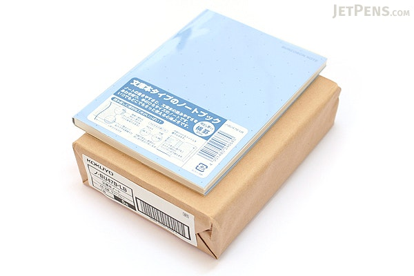 "Kokuyo Buncobon Dot Cover Notebook - A6 (4.1"" X 5.8"") - Normal Rule - 23 Lines - 70 Sheets - Light Blue - Pack of 5 - KOKUYO NO-BU47B-LB BUNDLE"