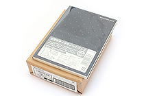 "Kokuyo Buncobon Dot Cover Notebook - A6 (4.1"" X 5.8"") - 5 mm Graph - 70 Sheets - Dark Blue - Pack of 5 - KOKUYO NO-BU47S-DB BUNDLE"