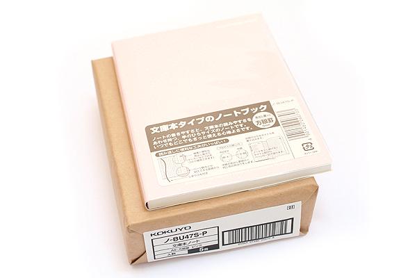 "Kokuyo Buncobon Dot Cover Notebook - A6 (4.1"" X 5.8"") - 5 mm Graph - 70 Sheets - Pink - Pack of 5 - KOKUYO NO-BU47S-P BUNDLE"