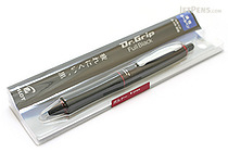 Pilot Dr. Grip Full Black Ballpoint Pen - 0.7 mm - Bordeaux Accents - PILOT BDGFB-80F-BO