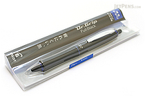 Pilot Dr. Grip Full Black Ballpoint Pen - 0.7 mm - Blue Accents - PILOT BDGFB-80F-L