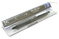 Pilot Dr. Grip Full Black Ballpoint Pen - 0.7 mm - Silver Accents - PILOT BDGFB-80F-S