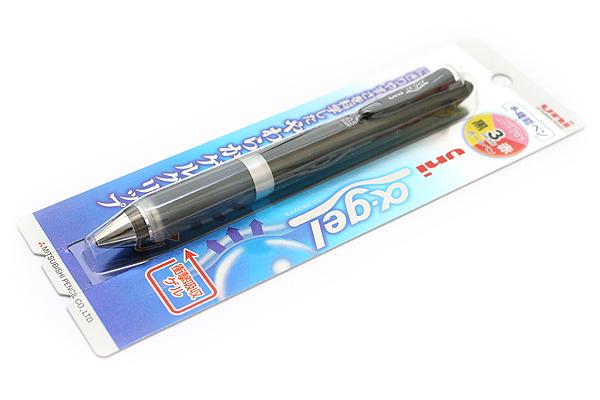 Uni Alpha Gel 2 Color 0.7 mm Ballpoint Multi Pen + 0.5 mm Pencil - Metallic Black Body - UNI MSE1007GG1P.M24