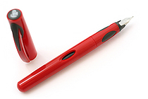 Pelikan P55 Future Fountain Pen - Medium Nib - Red Body - PELIKAN 996918