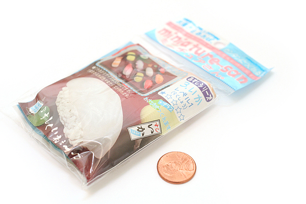 Hinodewashi Miniature-san Craft Molding Sushi Piece Eraser - Squid - HINODEWASHI MTS-S3-240