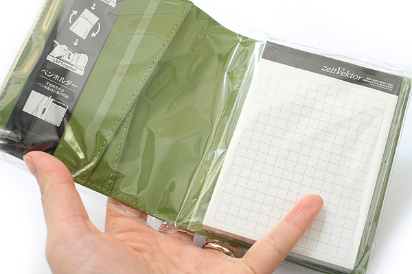 """Zeit Vektor Composite Leatherette Memo Pad Case - 3.7"""" X 4.5"""" - Green - RAYMAY ZVP182 M"""