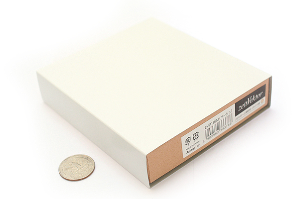 "Zeit Vektor Composite Leatherette Memo Pad Case - 3.7"" X 4.5"" - Beige - RAYMAY ZVP182 J"