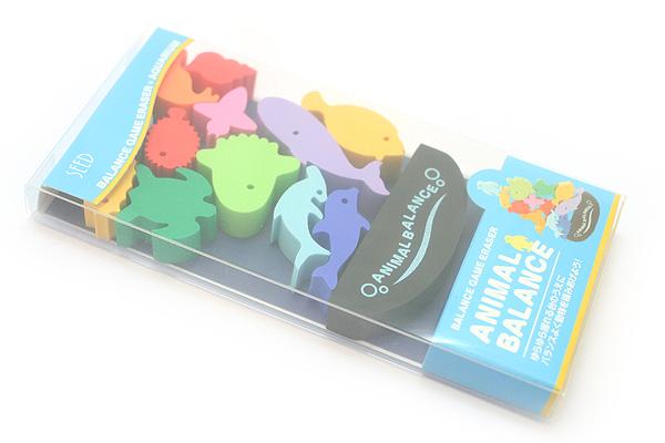Seed Animal Balance Game Eraser Set - Aquarium  - SEED YR-700S