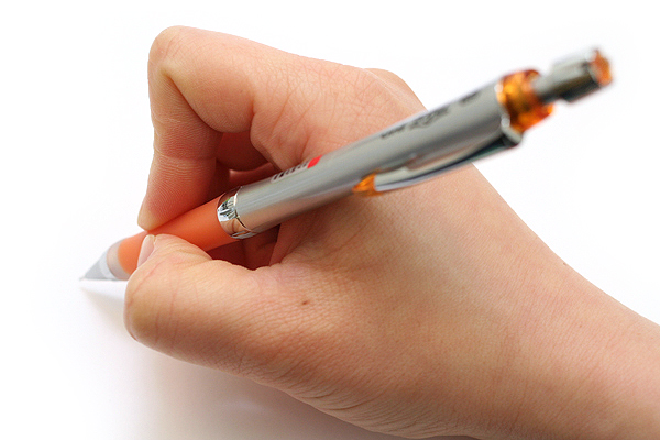 Uni Alpha Gel Slim Mechanical Pencil - 0.5 mm - Orange Grip - UNI M5807GG1P.4