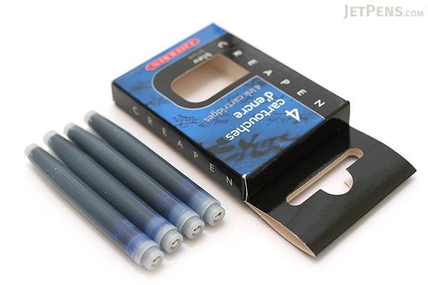 J. Herbin CreaPen Refillable Bristle Brush Pen Refill Cartridge - Blue - Pack of 4 - J. HERBIN H204/16