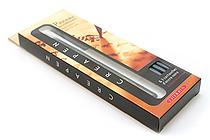 J. Herbin CreaPen Pinceau Refillable Bristle Brush Pen + 3 Black Cartridges - J. HERBIN H205-40