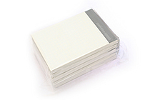 "Zeit Vektor Composite Leatherette Memo Pad Refill - 2.9"" X 4.1"" - 5 mm Graph X 80 Sheets - Pack of 5 - RAYMAY ZVP183 BUNDLE"
