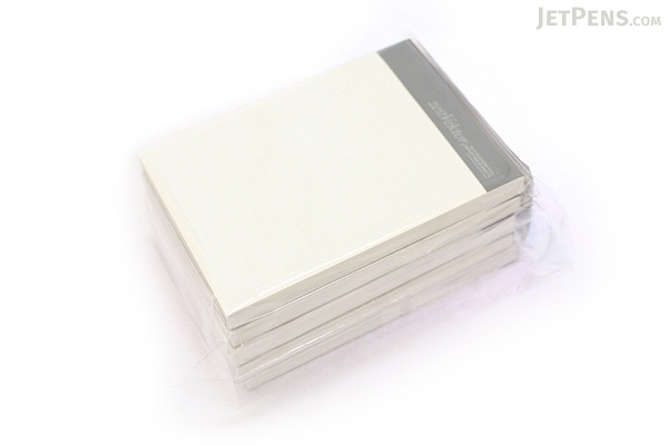 """Zeit Vektor Composite Leatherette Memo Pad Refill - 2.9"""" X 4.1"""" - 5 mm Graph X 80 Sheets - Pack of 5 - RAYMAY ZVP183 BUNDLE"""