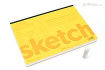 """Maruman Soho Sketch Pad - B5 (9.8"""" X 6.9"""") - 96.4 g / sq m Blank Paper - MARUMAN SOHO501"""