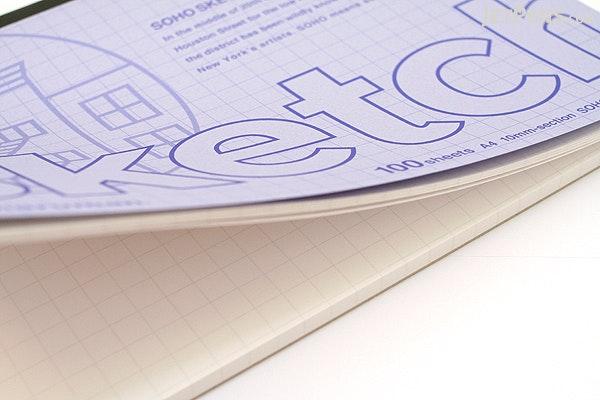 "Maruman Soho Sketch Pad - A4 (11.7"" X 8.3"") - 52.3 g / sq m Croquis Paper - 10 mm Graph - 100 Sheets - MARUMAN SOHO702"
