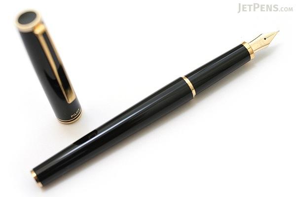 Pilot Custom Original Fountain Pen - Black - 14K Gold Fine Nib - PILOT FK-700R-B-F