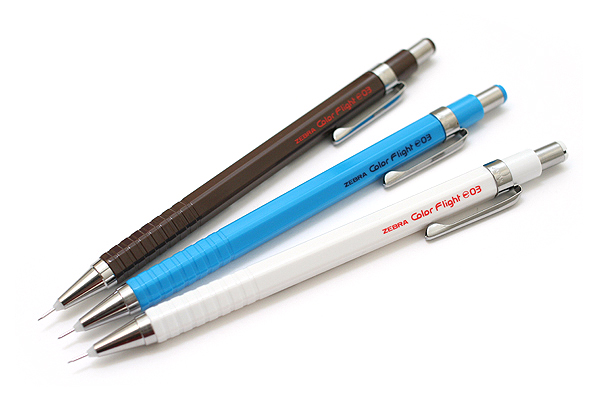 Zebra Color Flight 0.3 Mechanical Pencil - 0.3 mm - White - ZEBRA MAS53-W