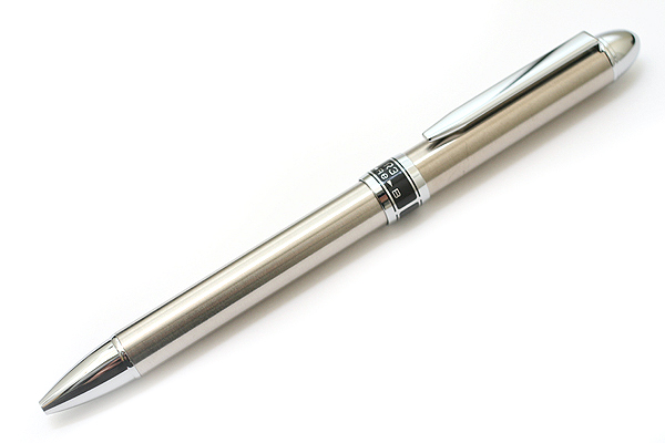 Platinum MWB-2000R Stainless Steel 2 Color 0.7 mm Ballpoint Multi Pen + 0.5 mm Pencil - PLATINUM MWB-2000R