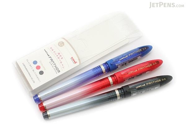 Uni Fanthom Erasable Gel Pen - 0.5 mm - 3 Color Pack - UNI UF202053C