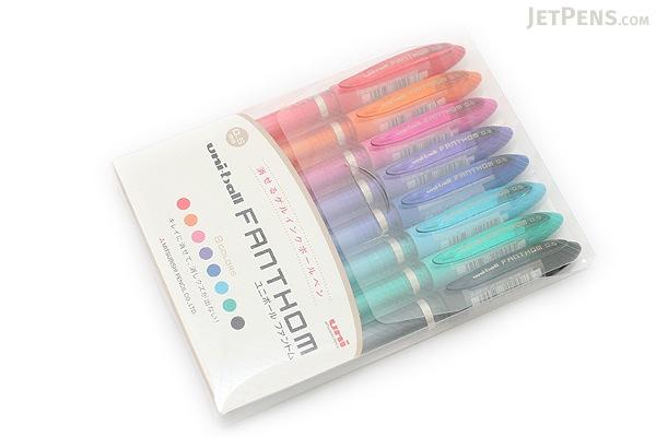 Uni Fanthom Erasable Gel Pen - 0.5 mm - 8 Color Pack - UNI UF202058C