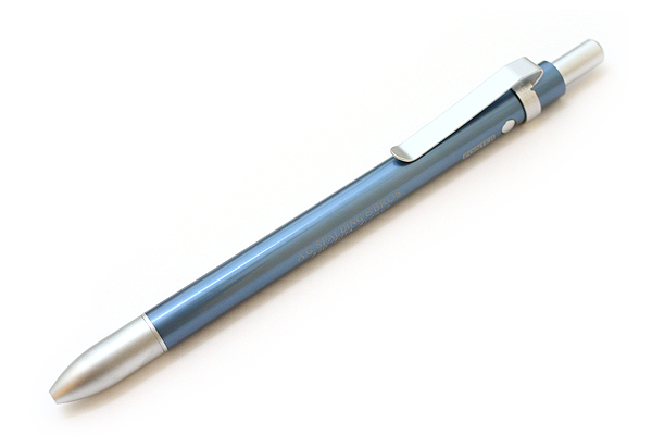 A.G. Spalding & Bros Aluminum Body 2 Function Multi Pen - 0.7 mm Black Ballpoint Pen + Stylus - Blue Body - RAYMAY BRPB701 A