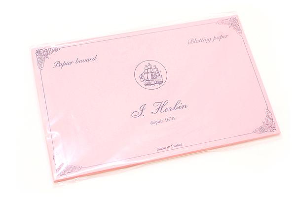 J. Herbin Rocker Style Wooden Ink Blotter - Blotter Sheets - Pink - Pack of 10 - J. HERBIN H255/60