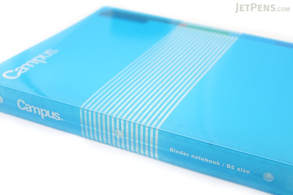 Kokuyo Campus Slide Binder - B5 - 26 Rings - Light Blue - Bundle of 3 - KOKUYO RU-P334LB BUNDLE