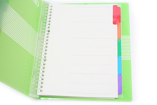 Kokuyo Campus Slide Binder - B5 - 26 Rings - Green - KOKUYO RU-P334YG