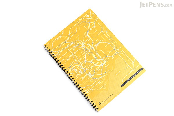 "Kokuyo Campus Twin Ring Notebook - ""Route to the Top"" Cover - Semi B5 - Dotted 7 mm Rule - KOKUYO SU-TV3AT"