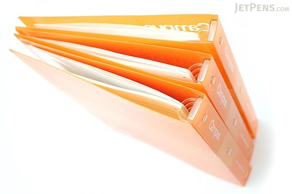 Kokuyo Campus Slide Binder - B5 - 26 Rings - Orange - Bundle of 3 - KOKUYO RU-P334YR BUNDLE