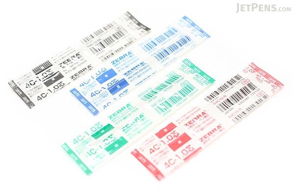 Zebra 4C-1.0 Ballpoint Pen Refill - D1 - 1.0 mm - Red - ZEBRA R4C10-R
