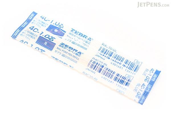 Zebra 4C-1.0 Ballpoint Pen Refill - D1 - 1.0 mm - Blue - ZEBRA R4C10-BL